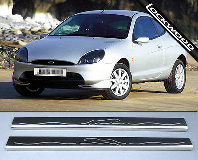 Ford Puma Stainless Steel Sill Protectors Kick Plates Sills