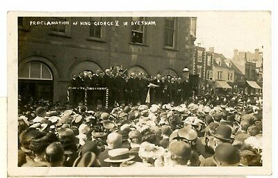 EVESHAM proclamation king George V 1910- Worcestershire -RP-a3-1