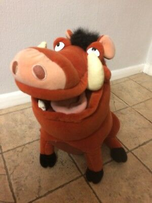 """Official Disney The Lion King Pumba Pumbaa The Warthog Plush Beanie Soft Toy 16"""""""