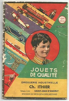 Catalogue jouets Ithier 1934-1935 ,38 pages.