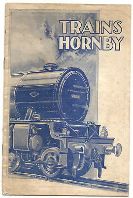 Catalogue ancien trains Hornby.16 pages.