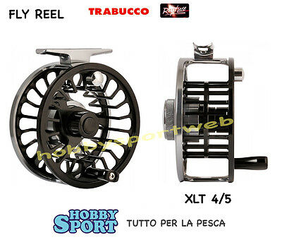 Fly Reel Mulinello Mosca  Line 4-5  Rapture Trabucco Guide Master Xlt Black
