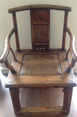 Antique Chinese Huanghauli Elbow Chair