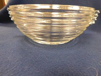 1 Small Clear Ridge Pattern Salad Bowl