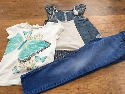 John Lewis H+M  Next  Girls Small Bundle / Outfit 4-5Yrs Tops Jeans