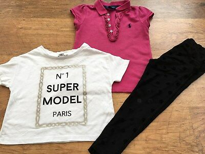 Ralph Lauren M+S  River Island Girls Small Bundle /outfits Tops Leggings 3-4Yrs