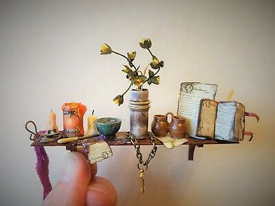 D/house Miniature Beautiful Cottage WItch Shelf ~ 1/12th ~ CWM ~ Witch