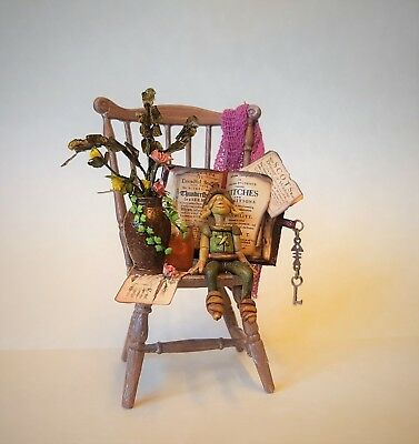 D/house Miniature Magical Cottage Witch Pixy Chair ~ 1/12th ~ CWM ~ Witch
