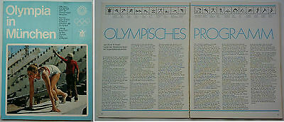 Orig.PRG / Official preview  Olympic Games MÜNCHEN 1972  // Edt. 2 from 1970  !!