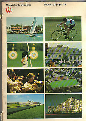 Orig.PRG / Guide  Olympic Games MONTREAL 1976 / MONTREAL + all sportsgrounds  !!