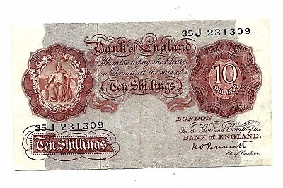 Bank of England (P368a) 10 Shillings 1948 Peppiatt
