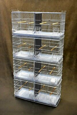 "30x11X13"" Stackable Bird Breeding Breeder Cage For Finch Canary Sisken (4 cage)"