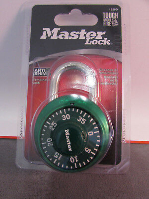 Master Lock 1529DTGT Combination Lock, Green