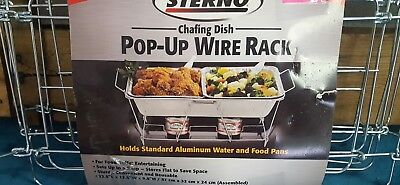Sterno Pop Up Wire Rack Chafing Dish