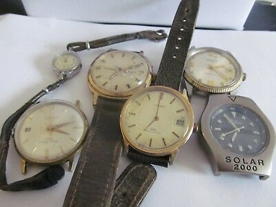 6 vintage wristwatches in fair condition not working