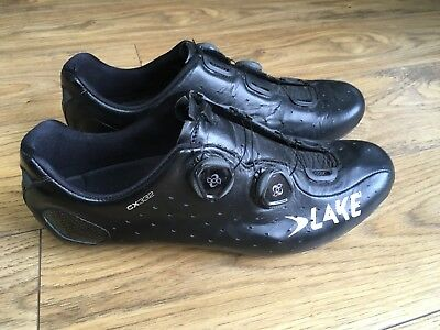 Lake CX332 Road Shoes 45.5 Wide Fit Black