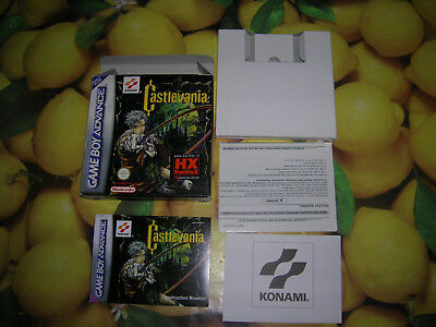 Castlevania Circle of the Moon gba gameboy advance box + manual +inserts no game