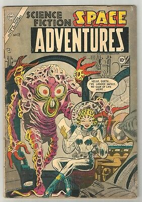 Space Adventures # 12 (1954) ALL-TIME CLASSIC Steve Ditko sci-fi Cover!!!