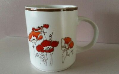 Vintage Royal Doulton Coffee Mug - FieldFlower Collection - 1976 - Field Flower