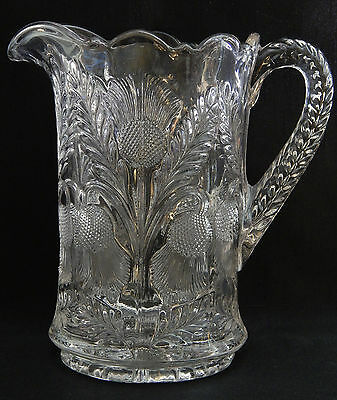 Inverted Thistle-Clear by Mosser (Ohio) 32 Oz Milk Pitcher
