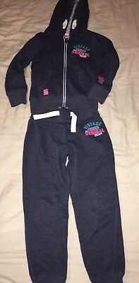 Cosy And Snug Next Tracksuit Lounge Suit Age 7/8 Zip Hoody And Joggers