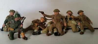 Lot of 7 Britain's WW2 British and US figures, FREE POSTAGE
