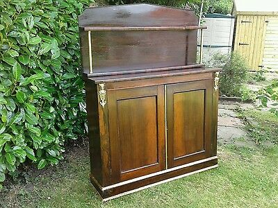Antique / Late Regency Rosewood Chiffonier Circa 1820 Side Cabinet / Server