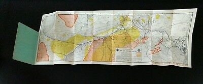 Antique 1911 Industrial Map of The ERIE RAILROAD System