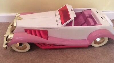 Vintage Barbie Jem Radio Pink And White Car