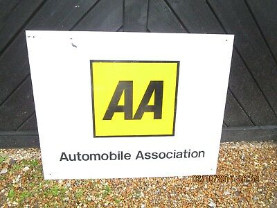 Large Vintage 1970s era AA Sign / AA Office sign - 75cm x 60cm Perspex AA sign