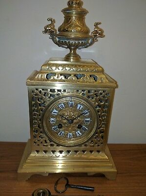 antique French brass mantle clock.