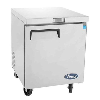 "New 27"" 1 Door Undercounter Worktop Freezer With Casters Free Shipping In 24Hrs"