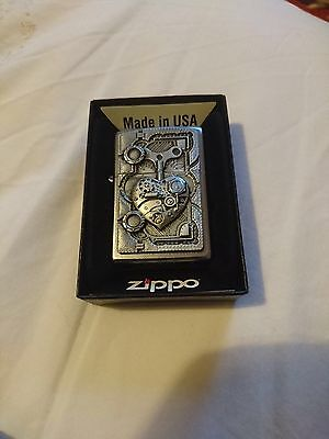 Steam punk heart ZIppo lighter stunning detail new with box