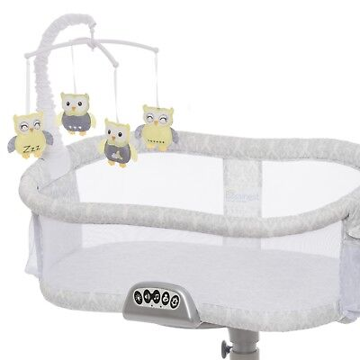 Baby Bed Crib Mobile Cradle Bassinet Swivel Relaxing Sleep With Clamp For Toys