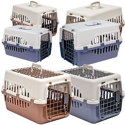 Pet Carrier Cage Box Cat Dog Kitten Puppy Transport Travel Transporter 1 2 Door