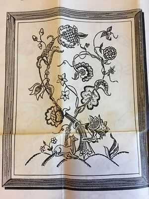 Vintage Jacobean Floral Design Embroidery Crewel Transfer Tree of Life Pattern
