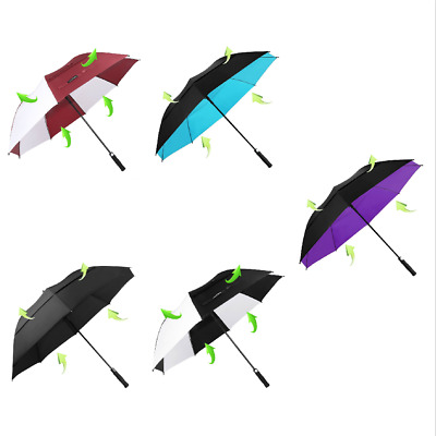 Golf Large Umbrella Windproof Oversized Double Vented Black White Blue Purple