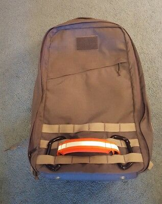 GORUCK Grey/White Rucker (With Drain Plugs) Package W/Flag and Morale Patches