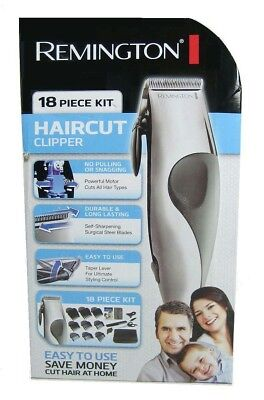 Remington 18 Piece Haircut Clipper Kit to cut, style, clean & protect