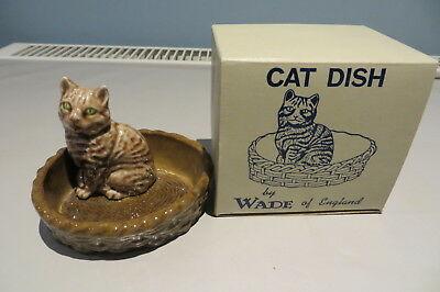 Wade Cat In A Basket Pin Dish Unused And Boxed Free Uk P&p