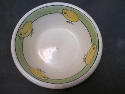 Vintage Roseville Art Pottery Juvenile Baby Chicks Small Bowl
