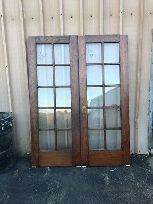 Cm 226 Match Pair Antique French Doors Oak 5' X 79 1/4 X1 3/8