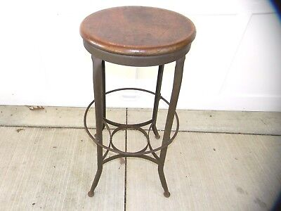 **Vintage B.K. ELLIOT INDUSTRIAL METAL DRAFT STOOL-Toledo Metal- with Badge***