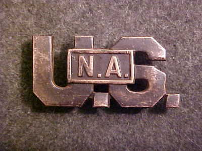 Rare Ww1 Theater Made Bronze Usna Us National Army Officer Collar Insignia