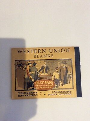 Rare! Vintage Western Union Full Book Of Blank Forms-With Original Carbon