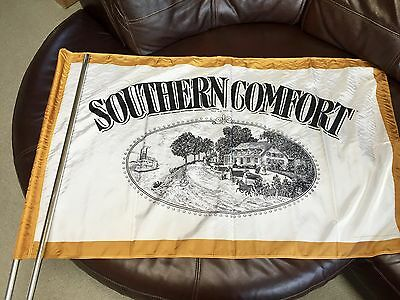 """NOS Southern Comfort Flag Poles Hardware - Large 49"""" Southern Comfort Whiskey"""