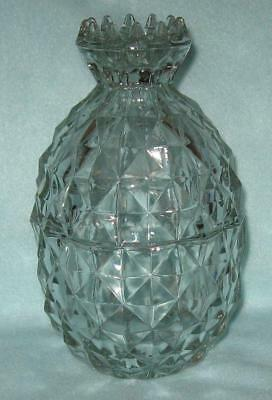 Jeannette Crystal Curios Pineapple Dish with Lid
