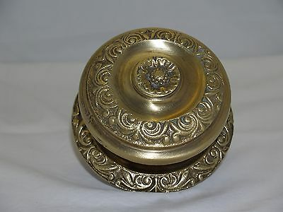 Vintage Greece Solid Brass Large Ornate Door Knob Handle Push/Pull #26