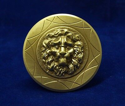 Greece Vintage Solid Brass Door Handle Knob Lion Head Push/Pull #4