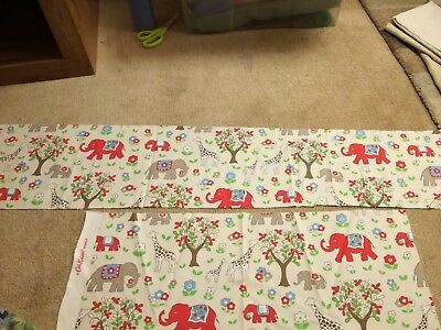 Cath Kidston fabric remnant elephant circus stone (craft, quilting, bunting)